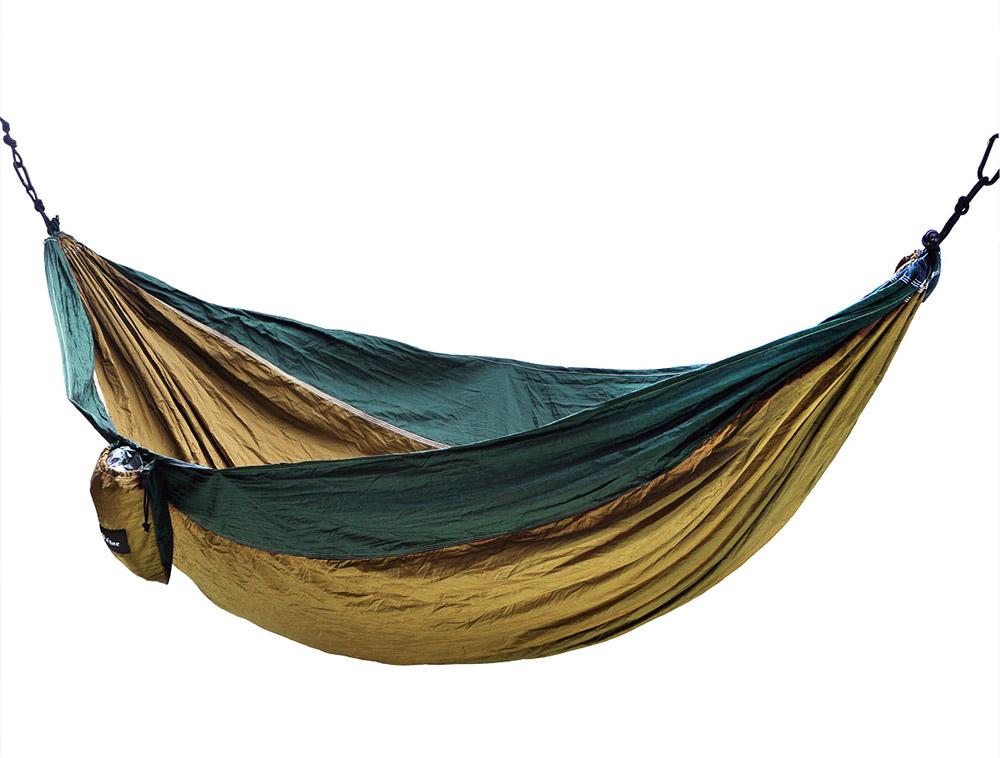 bs10025 portable nylon camping hammock nest for double 118 x 78 inch brown   dark green portable nylon camping hammock nest for double 118 x 78 inch      rh   bluestone outdoor